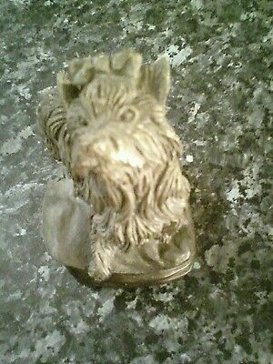 yorkshire terrier dog made of ? pewter ornament