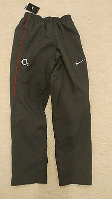 Nike England Rugby Tracksuit Bottoms / Trousers / Warm Up Pant (Small, Grey)
