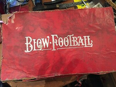Vintage Blow Football Game, Boxed, 1930s/40s