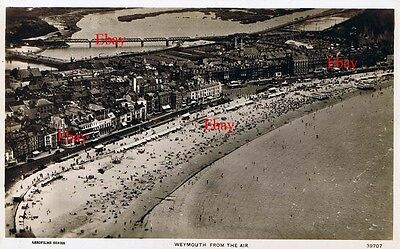 RPPC Aerial Photograph Weymouth from the Air looking North West  c 1930s