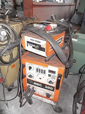 Butters NBC 380 amp MIG welder. Remote wire feed c/w gauge and torch