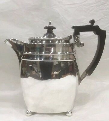 Antique Solid Sterling Silver Hallmarked Hot Water Or Coffee Pot