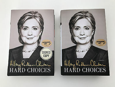 Hillary Clinton Authentic Signed Hard Choices Hardcover Book Authograph
