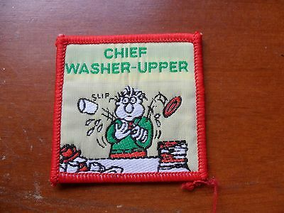 Chief Washer- Upper Scout Cloth Badge #