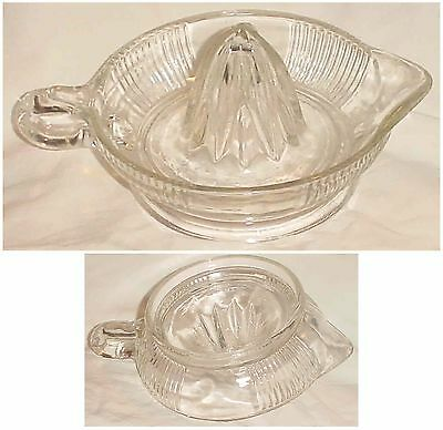 Clear Depression Glass Juicer Reamer Handle & Spout/ No Chips