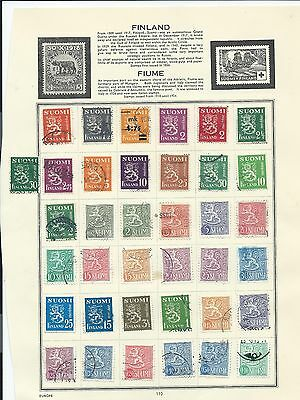 Finland stamps. 3 pages of unchecked mainly used. (Y429) Suomi