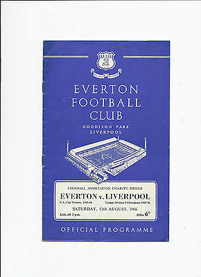 Everton v Liverpool 13 August 1966 Charity Shield