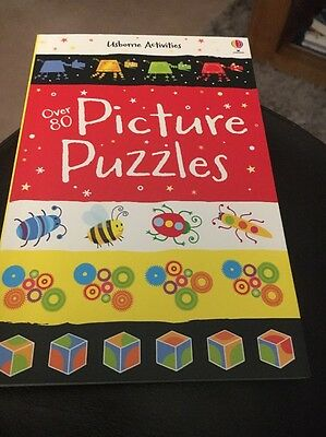 Usborne Activities Over 80 Picture Puzzles New Kids Book Fun Puzzles Test Brain