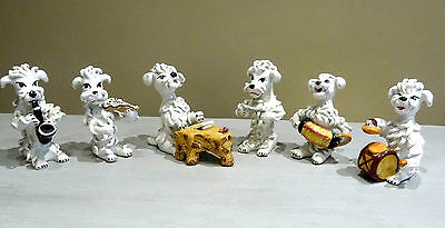Vintage Italian 1950s kitsch Spaghetti Poodle dogs musicians sextet musical band