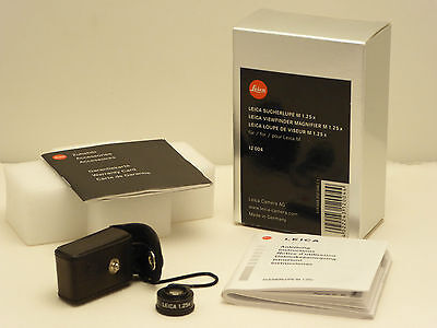 Leica viewfinder-magnifier M1.25x for M-series rangefinders:mint boxed cost £145