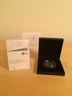 Royal Mint 150th Anniversary of Beatrix Potter 2016 Silver Proof PIEDFORT 50p