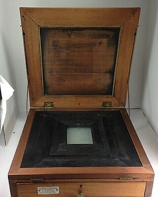 "ANTIQUE  RARE  ""Bruce"" Retouching DESK""  Circa 1880 BY T.S.BRUCE LONDON ENGLAND"