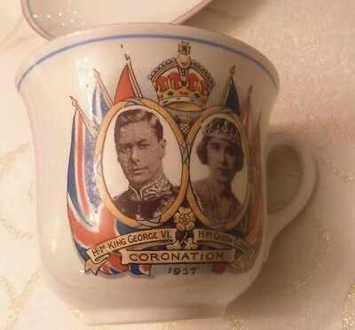 George VI & Queen Elizabeth Coronation cup and saucer 1937