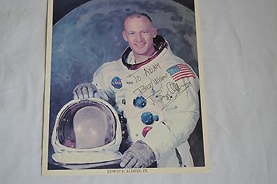 Buzz Aldrin signed photograph. Now Reduced.