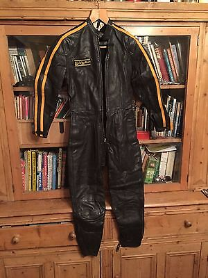 Vintage Lewis Leathers .classic One Piece Leather Motorcycle Suit Aviakit
