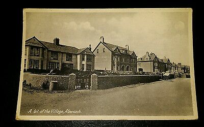 VINTAGE POSTCARD - A BIT OF THE VILLAGE, ABERSOCH - EARLY 1900's