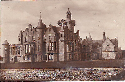Early Orkney postcard RP Balfour Castle, Shapinsay. Leonard's Series c.1920.