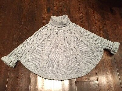 Girls Knitted Poncho / Jumper, Next, Age 5-6 Years, 116cm