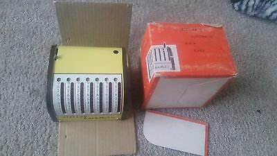 Rare VINTAGE CMI DESK ADD-A-MATIC ADDING MACHINE WITH BOX - MADE IN JAPAN bx27
