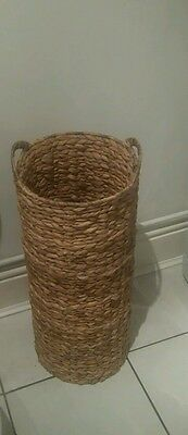 UMBRELLA STAND - Water Bamboo - Wicker - Natural - Country - Farmhouse...DERBY