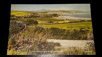 VINTAGE POSTCARD - PANORAMA VIEW, ABERSOCH - EARLY 1950's
