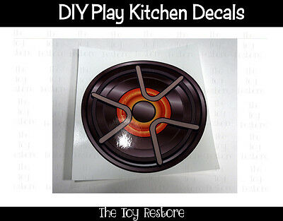 DIY Decal Sticker fits Generic Kitchen Burner Element Stovetop C 5 inch Stainles
