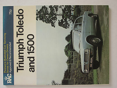 Triumph toledo and 1500, pearsons workshop manual.