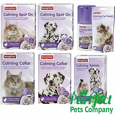 LOW PRICE Beaphar Calming Spot On, Tablets, Collars, Cats, Dogs Stress Relief