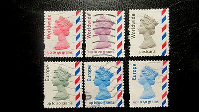 UK, OVERSEAS BOOKLET STAMPS FINE USED SG 2357/8/9, a,b