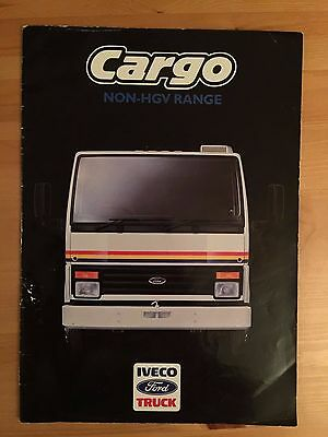 1987 Ford Cargo Non-HGV Range truck brochure - 20 page glossy A4