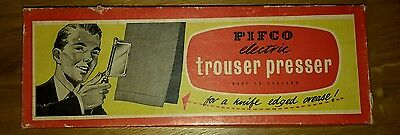 1950s  Pifco Vintage Electric Hand Held boxed  Trouser Press with instructions
