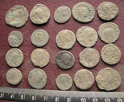 Authentic Ancient Artifact   Lot of 20 Higher Quality ROMAN Coins 14743