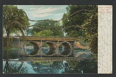 Bridge over the charles river. Printed in Germany, postally used dated 1906