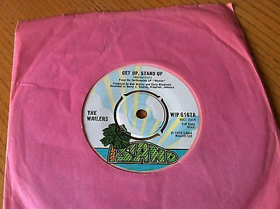 The Wailers - Get Up, Stand Up / Slave Driver - Wip 6167-In Excellent Condition