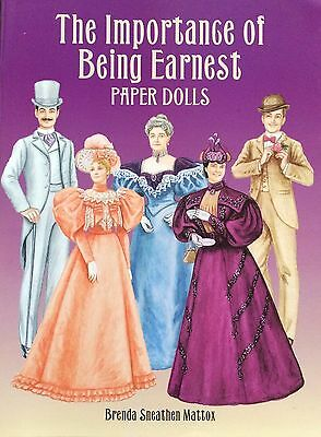 The Importance of Being Earnest Paper Doll Book, 2001 Uncut Book, 14 Pgs