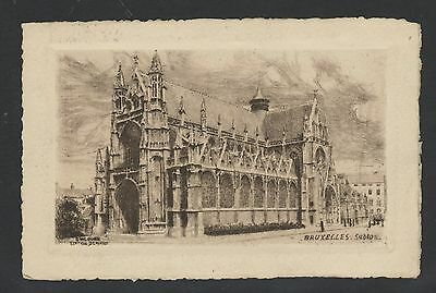 Brussels post card. Dated 1926  Cathedral