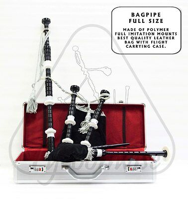 Great highland Scottish Bagpipe Full size with high quality hard case