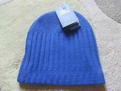 Mizuno Knitted Thermal Beanie Golf Hat - Blue - Bnwt