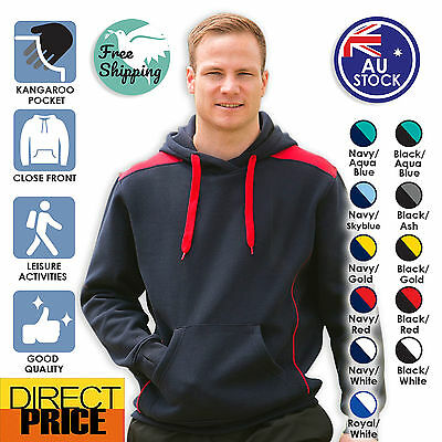 Adults' Unisex Cotton Fleece Polyester Hoodie Available in 11 Colours & 8 Sizes