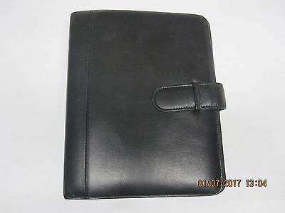 Classic Black Leather Planner Binder for Franklin Covey Organizer