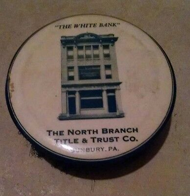 SUNBURY PA VINTAGE RECORD BRUSH NORTH BRANCH TITLE AND TRUST BANK Northumberland