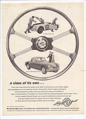 Magazine Page Very Good Condition 1956 Or 57 Mg Ad