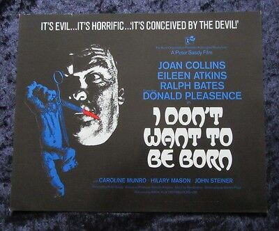 I DON'T WANT TO BE BORN synopsis sheet JOAN COLLINS,
