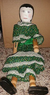 Americana Folk Art Doll Hand Made from Clothes Pins