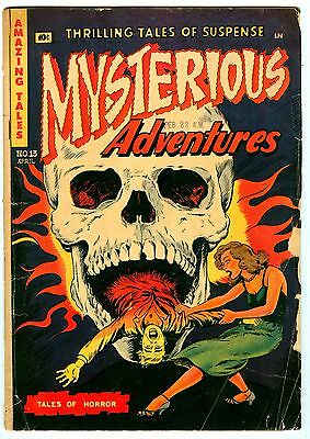 Mysterious Adventures #13 Classic skull cover.