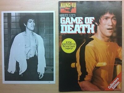 Bruce Lee 1975 Kung Fu Monthly with Rare Photo dated 1977 Collectors Edition