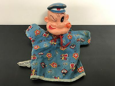 Vintage POPEYE the SAILOR Hand Puppet made by Gund