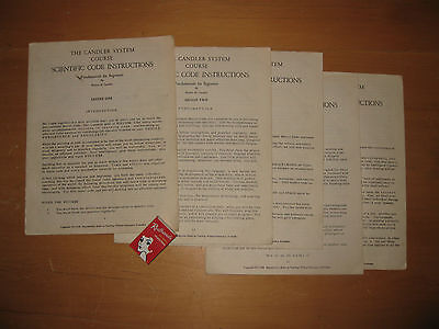 THE CANDLER SYSTEM Morse Code lessons 1 - 5 Scientific Code Instructions C.1950s