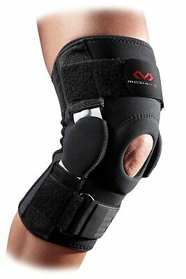 McDavid Dual Disk Hinged Knee Compression Support Brace Recovery, Black, Small
