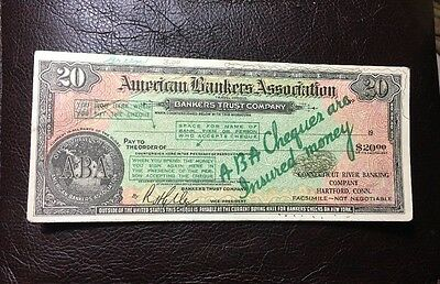 Vintage Advertising Postcard A.B.A. American Bankers Association Cheques